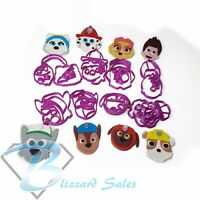 Paw Patrol Face Set of 8 Characters Fondant Cookie Cutter 5cm 7cm 10cm