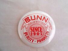 Vintage Bunn (Coffee Makers?) Quality Products Since 1907 Advertising Pinback