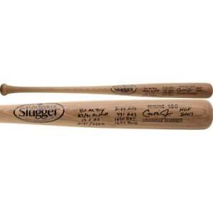 CAL RIPKEN Jr. Autographed Career Stat Louisville Slugger Bat FANATICS LE 12