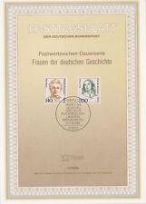 TIMBRE FDC ALLEMAGNE  BERLIN OBL ERSTTAGSBLATT CECILE VOGT ET FANNY HENSEL 1989