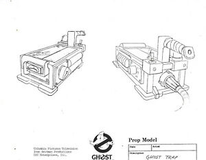 """THE REAL GHOSTBUSTERS TV """"Ghost Trap"""" Model Sheet 1986 Columbia/DIC INC 8.5""""x11"""""""
