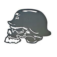 "Metal Mulisha Skull Aluminum Hitch Cover Matte Black finish 2"" Insert Receiver"