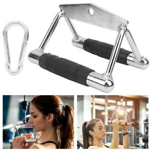 Fitness Tricep V Shaped Press Down Bar Rowing Training Handle Stainless Rubber