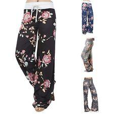 Women's Summer Casual Pajama Pants Floral Print Drawstring  Lounge