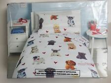 Childrens Kids Cute ANIMALS CATS & DOGS Duvet Cover Set SINGLE BED