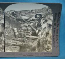 WW1 Stereoview Photo Rifle Grenade In British Front Line Trench Balkans Keystone