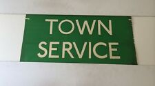 "Red Rover 1986 Linen Bus Blind 27""- Town Service Green"