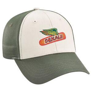 DEKALB SEED *GREEN & KHAKI TWILL* Trademark Logo CAP HAT *BRAND NEW* DS36