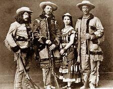 """Buffalo Bill Cody & Pony Express Riders Western Photo Sepia  8 X 10"""""""