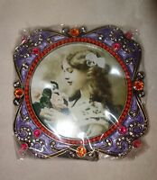 Taylor Avedon collectible Enamel Crystals Photo picture Frame pu new