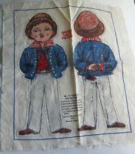 VINTAGE SHACKMAN JAPAN ANTIQUE SAILOR PATTERN CLOTH DOLL