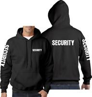 Security Hoodie Hoody Guard Bouncer Doorman Workwear Staff Jumper Crew Top Bar