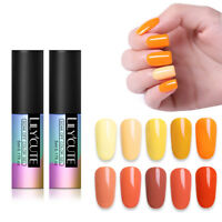 LILYCUTE 5ml Yellow UV Gel Nail Polish Soak Off UV/LED Gel Nails  Salon