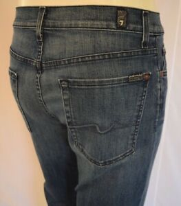 NEW Seven 7 For All Mankind RELAXED Bootcut Jeans For Men SZ 32 in MEDIUM  BLUE