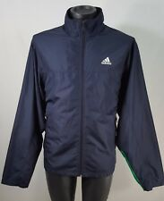 Men's Vintage Adidas Blue Green White Colorblock Light Windbreaker Jacket Sz M