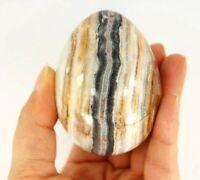 Large Apache Calcite Black Egg Specimen A, Natural Crystal Gemstone Rock Samples