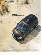 PUBLICITE ADVERTISING 114  2005  RENAULT  MODUS  COSMOPOLITAN