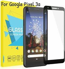 For Google Pixel 3a Screen Protector Scratch Resistant Tempered Glass Film Black