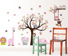 wall stickers elephant owl tree birds giraffe zoo baby vinyl decal decor Nursery