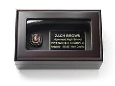 Championship Ring Display Case Box for Gold Ring - FREE ENGRAVING