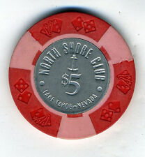 Old Five Dollar Poker Chip North Shore Club Lake Tahoe