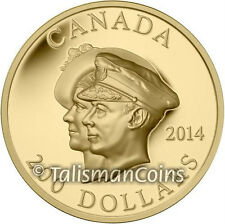 Canada 2014 First Royal Visit 75th $200 Double Portrait Ultra High Relief Gold