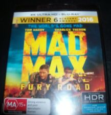 Mad Max Fury Road 4k Ultra HD Blu Ray Ma15