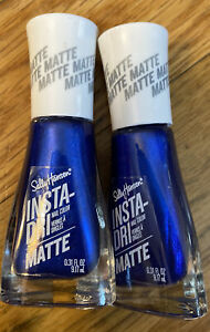 2 Pack Sally Hansen Insta-Dri Matte Nail Color Polish Blue Steel 13 0.31 fl oz