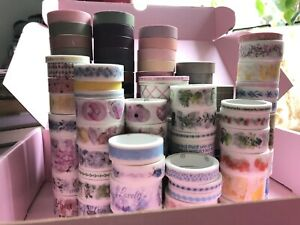 🎀 Huge Washi Tape Bundle   ~120+ ROLLS! ✨   pastel, colour, pattern