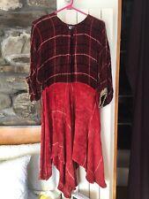 Vintage Chenille One Of A Kind Handmade Swing Dress Size Sm/med Red Jane Birkin
