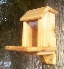Pop Up lid, square, tree mount squirrel feeder, cedar wood. The Birds Nest