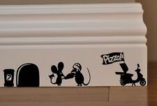 MOUSE Pizza Man Love Heart funny wall art decal vinyl stickers v