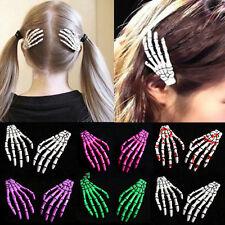 2pcs zombie schädel skelett hand knochen klaue haarspangen haare clips geschenke