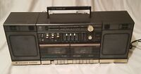 GENERAL ELECTRIC Dual Cassette Vintage Boombox Cassette Stereo Ghettoblaster