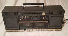 GENERAL ELECTRIC Dual Cassette Vintage Boombox Cassette Stereo Ghettoblaster