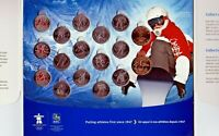 Canada 2010 RCB Colourized Vancouver Olympic 17 Coin Set!!