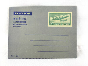 INDIA 50np AEROGRAMME - UNUSED - 1950's Era