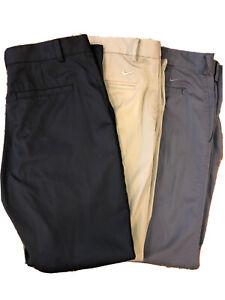 Lot Of 3 Nike Dri-Fit Golf Pants 34x30