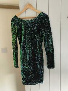 Motel Green Sequin Dress - Size M