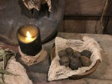 Primitive Blackened Walnuts Wax Dipped Grubby Bowl Fillers Homestead