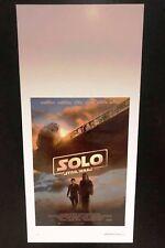 SOLO Star Wars Story (2018) Locandina cm 33x70 Poster Cinema Prima Edizione ITA