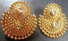 South Indian 22K Gold Plated Chand Bali Jhumka Jhumki Drop Party Earrings Set b