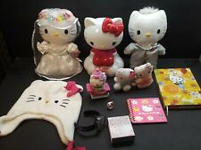 Hello kitty mixed lot candy dispenser watch plush wedding notebook hat toys