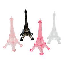 Lot de 4 Tours Eiffel Paris Rétro de 13 cm en Plastique