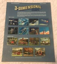 3 Dimensional MEN IN SPACE ANTIQUE CARS Stamps of Bhutan World Of Stamps Series