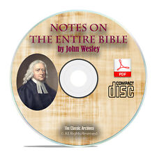 John Wesley's Notes on the Entire Bible, Scripture Commentary Study PDF CD H16