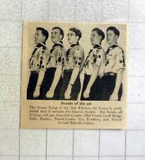 1953 Second Whitton Air Scouts Yeend,benge, Barlow, Feathers, Coiley