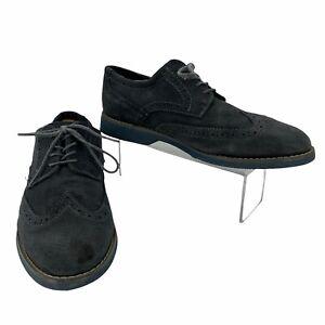 Joseph Abboud Oxford Wingtip Dress Shoes Men's Size 10 Blue Gray Business Casual