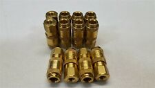 Lot of -12- Rectus 20KAIF10MPX Mini Industrial Coupling, Brass, Female Thread