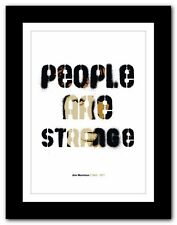 More details for jim morrison ❤ typography quote poster art limited edition print the doors #38